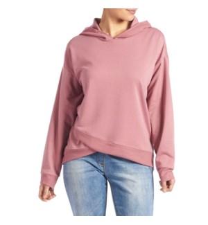 Coco + Carmen Athena Hooded Sweatshirt - Rose - L/XL