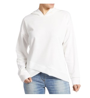 Coco + Carmen Athena Hooded Sweatshirt - Off White - S/M