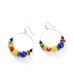 Coco + Carmen Ada James Hoop Earrings - Multicolored