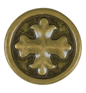 Ginger Snaps Antique Brass Coptic Cross