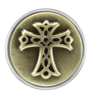 Ginger Snaps Antique Brass Cross