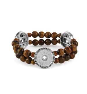 Ginger Snaps 3-Snap Stretch Tiger's Eye Bracelet
