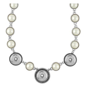 Ginger Snaps 3-Snap Pearl Necklace