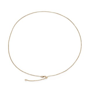 Whispers Adjustable Charm Necklace - Gold
