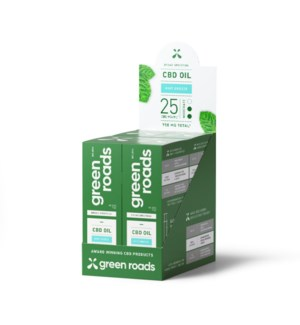 Broad Spectrum 25MG CBD Mint Breeze Oil 4 PK
