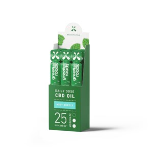 25mg Daily Dose: Broad Spectrum Mint Breeze (12 pack)