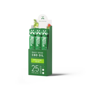 25mg Daily Dose: Broad Spectrum Apple Kiwi Bliss (12 pack)
