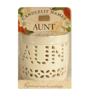 Candlelit Names - Aunt