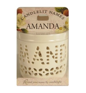 Candlelit Names - Amanda