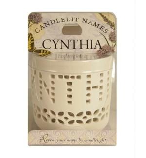 Candlelit Names - Cynthia