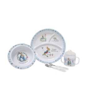 Beatrix Potter - 5 pc Melamine Set