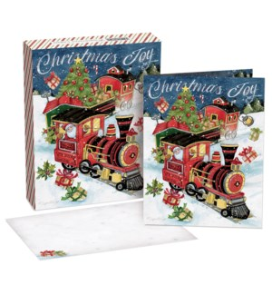ALL ABOARD BOXED CHRISTMAS CARDS