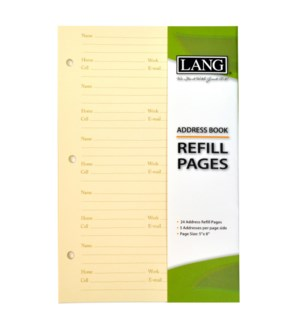 ADDRESS BOOK REFILL PAGES