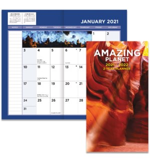 AMAZING PLANET 2021 PHOTO 2-YEAR POCKET PLANNER