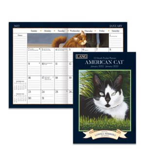 AMERICAN CAT™ 2022 MONTHLY POCKET PLANNER