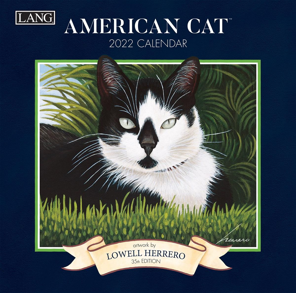 2022 Cat Calendar.American Cat 2022 Mini Wall Calendar Lang Companies Cma California Marketing Associates