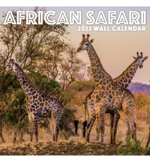 AFRICAN SAFARI 12X12 PHOTO WALL CALENDAR