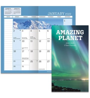 AMAZING PLANET 2 YEAR PLANNER W/O PEN-PHOTO