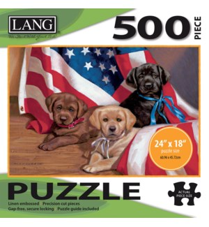 AMERICAN PUPPY PUZZLES-500PC