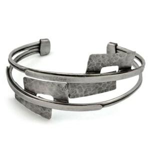 3 Band Cuff w/ rectangle Plates
