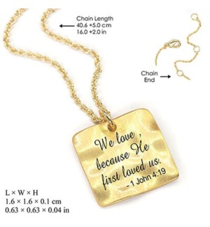 (We Love Because He First Loved Us-1 Conrinthians 4:19)-Gold / UPC= 684500065259