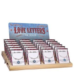 19 Alphabet Letters Round  Charm Silver Bracelet (excludes Q.U.V,W,X,Y,Z), 38 pc Unit, 19 sku x 2 pc