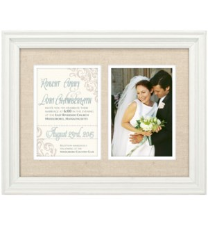 2-OP.5X7 OFFWHITE LINEN INVITATION