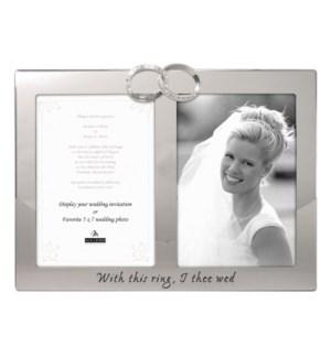 2-Op. 5X7 Wedding Rings