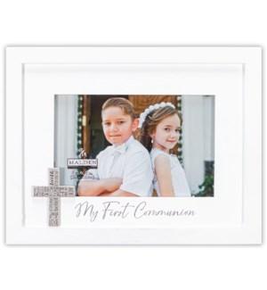 4x6 1st Communion w/Silver Cross