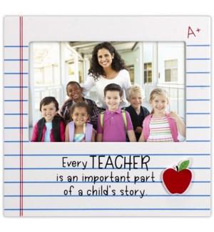 4x6 Teacher w/Apple