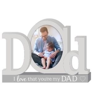 Dad Platform Letters w/Photo
