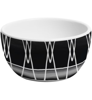 Black & White 5 in. Dipping Bowl