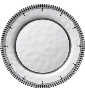 Black & White Round 8 in. Salad Plate Lined Rim
