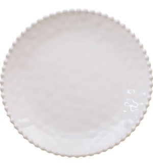 Beaded Pearl  11 in. Round Dinner Plate Cream