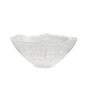 ALABASTER GLASS BOWL WHITE