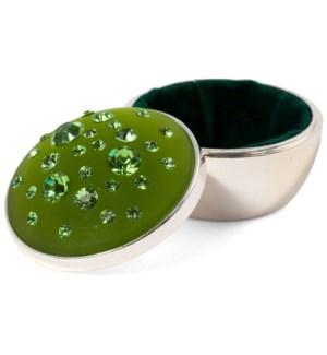 """AV - Peridot Round - 2""""x2"""" Green Box"""