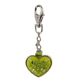 AV - Peridot - Heart Keychain w/Mirror