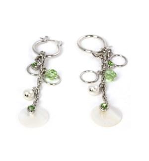 AV - Peridot Earrings - w/Pearl Accents