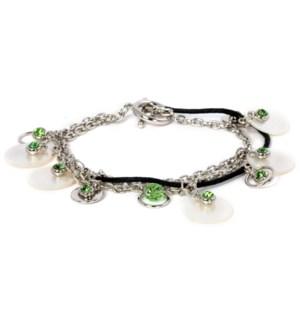 AV - Peridot Bracelet - w/Pearl Accents