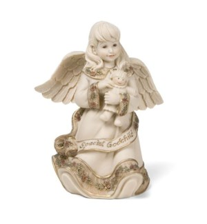 "AS - Special Godchild Angel - 4.5"" Angel with Doll"