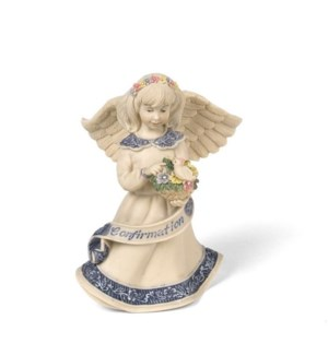 "AS - Confirmation Angel - 4"" Angel w/ Bird and Flowers"