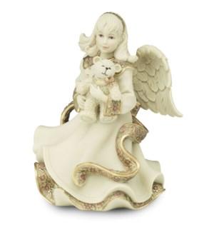 "AS - Angel Holding Teddy Bear - 6"" Angel"