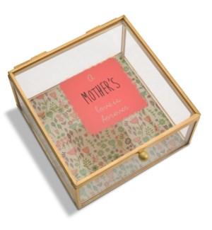 "AML - Mother - 4.25"" x 4.25"" Glass Keepsake Box"