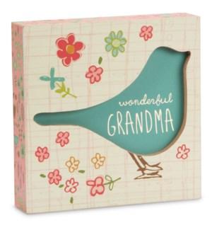 "AML - Grandma - 4.5"" x 4.5"" Plaque"
