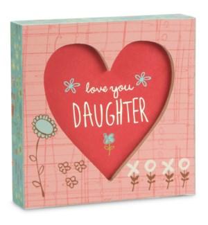 """AML - Daughter - 4.5"""" x 4.5"""" Plaque"""