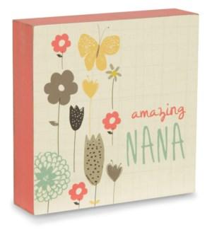 """BAW - Amazing Nana - 4"""" x 4"""" Plaque"""
