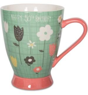 BAW - 50th Birthday - 18 oz Cup