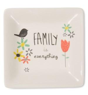 "BAW - Family - 4.5"" Ceramic Keepsake Dish"
