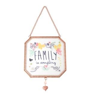 """BAW - Family - 5"""" x 5"""" Glass Sun Catcher"""