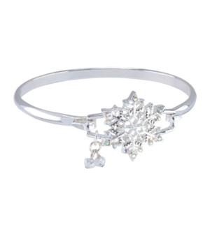 Bracelet-AB Crystal Snowflake